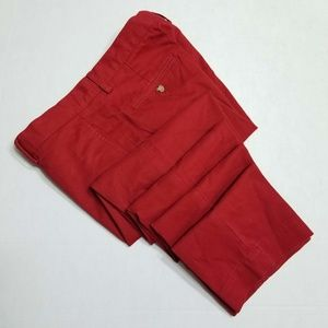 Polo Ralph Lauren Red Flat front Slim Fit Chinos